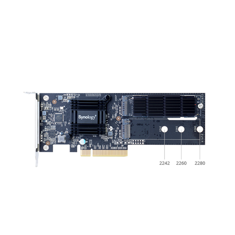 Picture of SYNOLOGY M2D18 M.2 SSD Adapter Card (PN:ACC-SYN-M2D18ADAP)