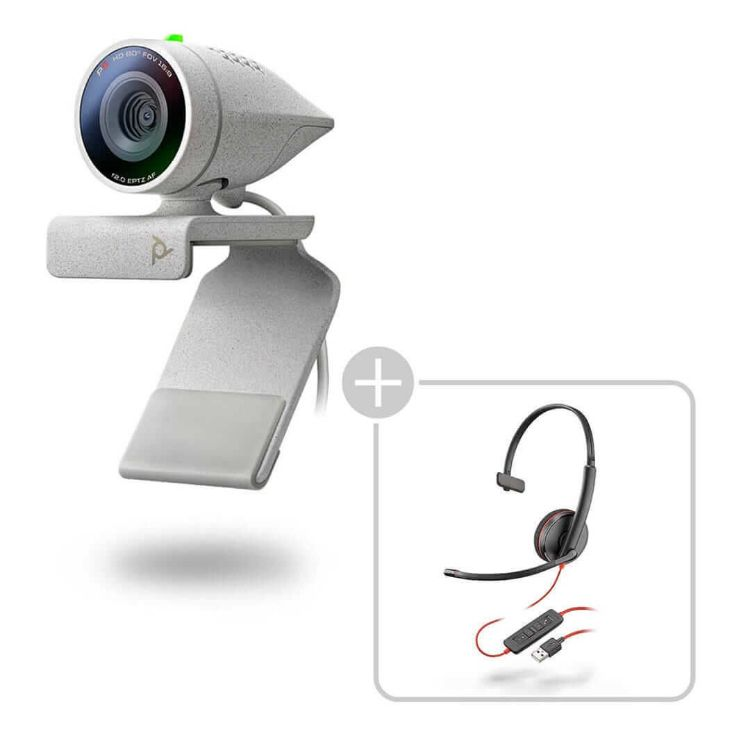 Picture of Poly Studio P5 kit with Blackwire 3210  for video conferencing (PN:2200-87120-025)