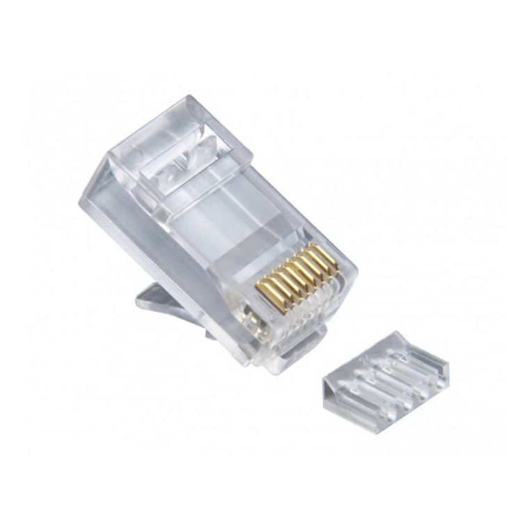 Picture of LINK US-1002 CAT 6 RJ45 Plug Unshield 2 Layer with pre-insert bar (10 ชิ้น/แพ็ค)