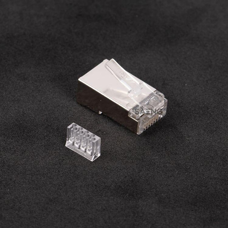 Picture of LINK US-1004 Shield CAT 6 RJ45 PLUG 2 layer with per-insert bar (1 ชิ้น/แพ็ค)