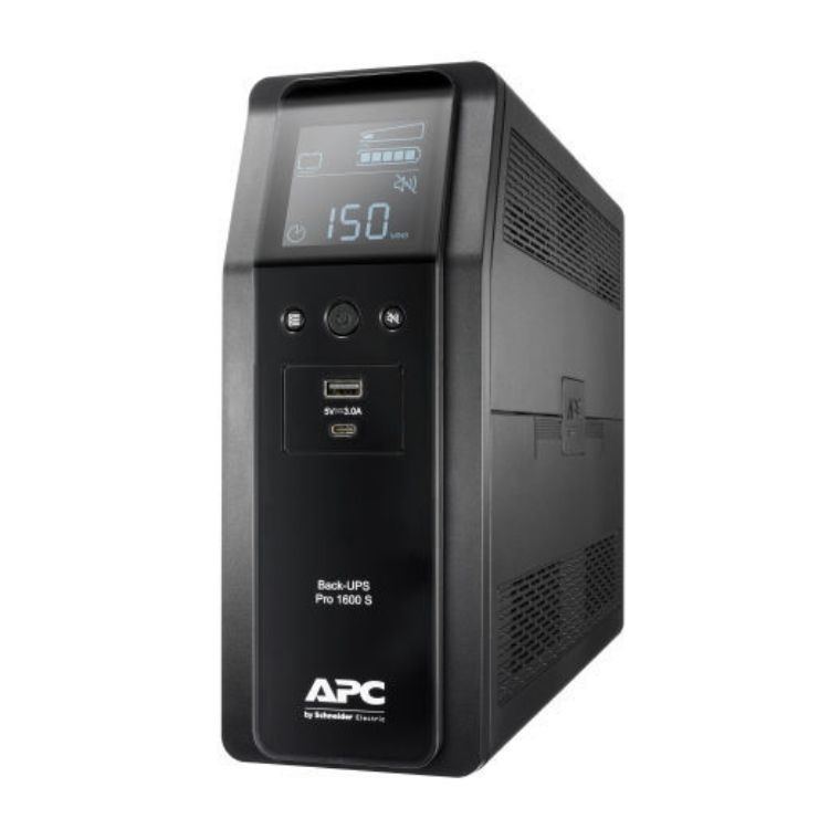 Picture of APC BR1600SI Back UPS Pro BR 1600VA, 960 Watt Sinewave,8 Outlets, AVR, LCD interface