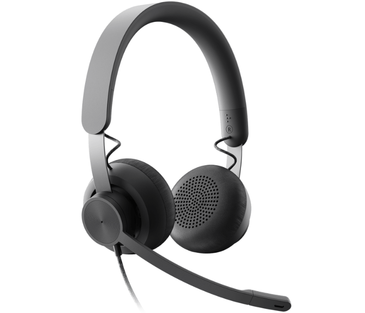 Picture of LOGITECH Zone Wired MS USB headset designed for busy open workspaces (PN:981-000871)