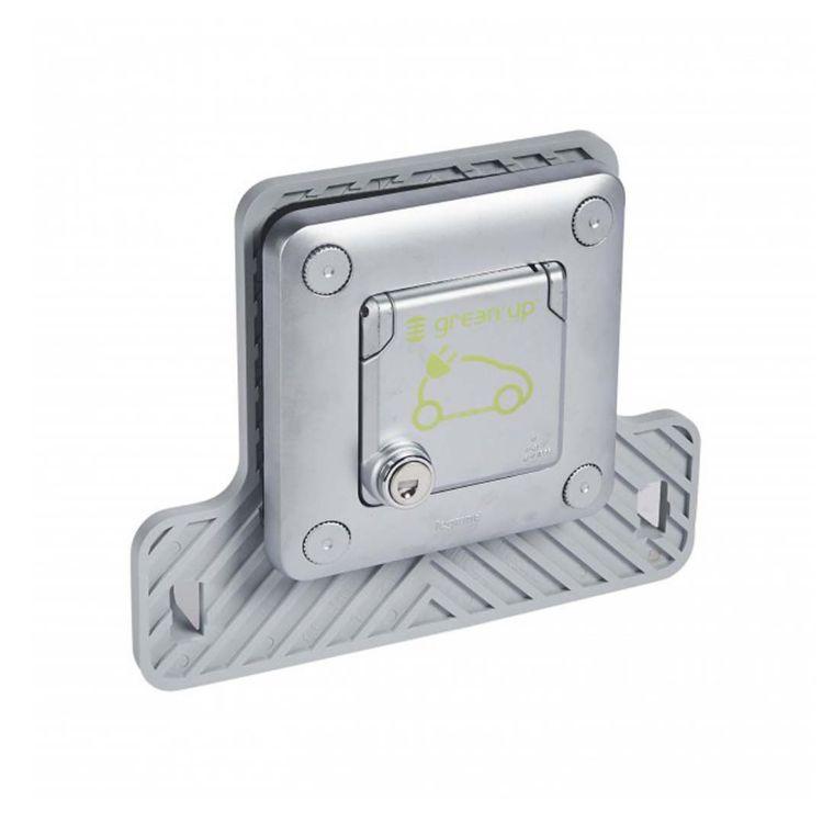 Picture of LEGRAND -  Flush mounting metal socket Green'up Access - locked - IP55-IK10 - German standard